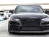 Audi A4 S4 B8.5 Euro RS4 Front Sport Hex Mesh Honeycomb Grill S Line Black 13-16