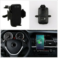 Portable Qi Wireless Charger Car Interior Mount Phone Holder For Samsung Galaxy
