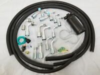 134a Air Conditioning Hose Kit with O-Ring Fittings Drier + Binary Switch AC NEW