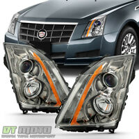 2008 2009 2010 2011 2012 2013 Cadillac CTS Headlights Halogen Headlamps w/ Bulbs