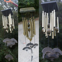 Large Outdoor Living Yard Garden 10/12 Tubes Bells Copper Wind Chimes home decor