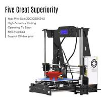 High Precision Desktop 3D Printer Kits DIY Self Assembly Acrylic Frame J3P1