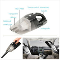 Black Universal 120W High Power LED Cordless Dry&Wet Car SUV Home Vacuum Cleaner