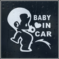 White BABY IN CAR Car Decals Stickers For Universal Car Good Quality YA9
