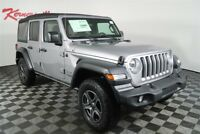 Jeep Wrangler Sport 4WD 3.6L V6 SUV Backup Camera Cloth Seats 2018 Jeep Wrangler Unlimited Sport 4WD 3.6L V6 SUV Backup Camera Cloth Seats