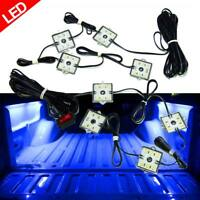 8PCS LED TRUCK BED LIGHTING KIT with SWITCH BLUE ACCENT