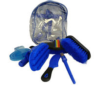 Horse Grooming Kit Set Kids 8 Pieces Barn Stable Supply Brushes Comb Hoof Pick