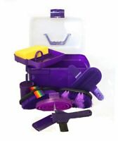 Horse Grooming Box Set 9 Pieces Barn Stable Supply Brushes Comb Hoof Pick