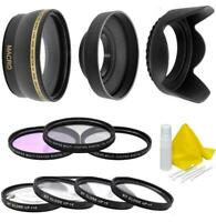 Wide Angle Lens and Accessory Filter Kit For Nikon Coolpix P900 Digital Camera