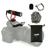 3.5mm Video Mic Microphone & Windshield Foam Cover for Nikon/Canon DSLR Camera