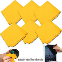 (6 Pack) Microfiber Cleaning Cloths For Tablet,Cell Phone,Laptop, LCD Screens