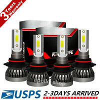 Mini 9005 9006 Combo LED Headlight Kit 5600W Fog Light Bulbs High Low Beam 6000K