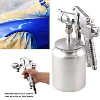 Silver 3.0mm Nozzle  Spray Gun High Pressure Feed Fit For Car Paint Furniture