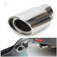 Car Chrome Stainless Steel Rear Round Exhaust Pipe Tail Muffler Tip Accessories