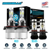 LED Headlight HI/LO Beams+Fog Lights Combo for 2005-2014 Ford F-150 F-250 F-350