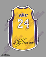KOBE BRYANT #24 BASKETBALL VINYL STICKER CAR TRUCK DECAL LAPTOP BUMPER 4