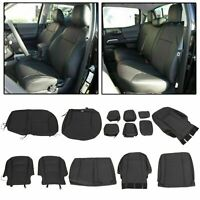 For 2016+ Toyota Tacoma Double Cab Seat Covers Black