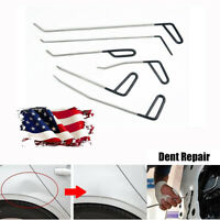 6 Pcs 6 Sizes Car Paintless Dent Repair Tools Kit Metal Pry Rods Universal New