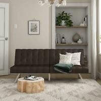 Brown Finish Convertible Sofa Bed Couch Durable Home Living Room Furniture Unit