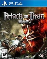 Attack on Titan Sony PlayStation 4 PS4 BRAND NEW GAME DISC IS LOOSE IN CASE