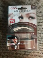 As Seen On TV Designer Brow Eyebrow Stamp DARK BROWN Glamorous by KISS NIP