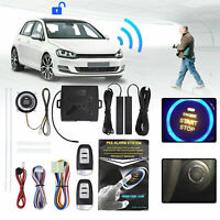 Car Alarm Security Keyless Entry System Push Button Starter Ignition Switch Kit