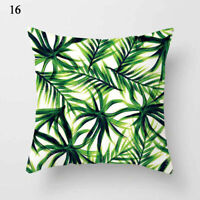 17.7'' Square Pillowcase Leaves Throw Waist Pillow Cushion Cover Home Supplies