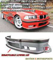 M3-Style Front Bumper Cover w/ Removable Front Lip Fits 92-99 BMW E36 3-Series