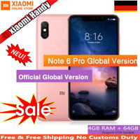 Xiaomi Redmi Note 6 Pro 4/64GB 6,26 Zoll Smartphone OctaCore 1.8GHz Handys Rosa