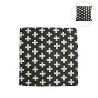 Square Linen Plus Sign Pattern Home Car Throw Pillow Cover Protector Decor