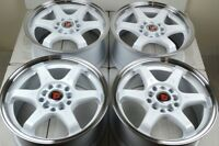 17 white Wheels Rims TSX tC iM FRS Prelude Civic Forester xB Camry 5x100 5x114.3