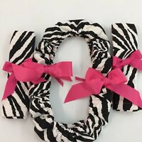 STEERING WHEEL COVER AND SEAT BELT COVER WITH BOWS WOMEN FASHION ACCESSORIES