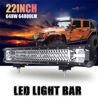 648W LED Work Light Bar Flood Spot Combo Driving Lamp Car Truck Offroad 22 Inch