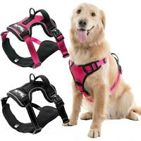 Dog Harness No-Pull Pet Harness Vest Adjustable Outdoor Reflective Easy Control