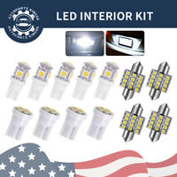 13x White LED Bulbs Interior Packge Kit Map Dome License Plate T10