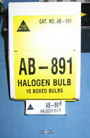 Box of 10 AGS AB-891 8W Halogen Bulbs Lamp - NEW