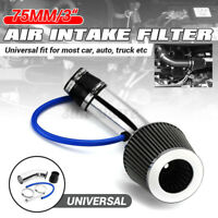 3'' Universal Car Cold Air Intake Filter Induction Kit Pipe Hose Aluminum