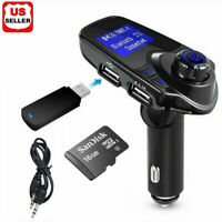 Car Cigar Plug Bluetooth FM Transmitter Radio MP3 Player Adapter Kit USB Charger