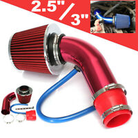 Universal Car Cold Air Intake Filter Red Alumimum Induction Pipe Hose System
