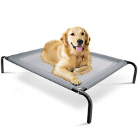 Elevated Dog Bed Lounger Sleep for Pet Cat Raised Cot Hammock  Indoor Outdoor