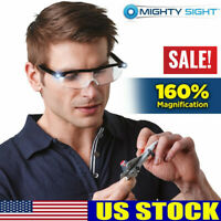 Mighty Sight-As Seen On TV-LED Magnifying Eyewear Glasses 160% Magnification US