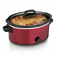 6 Quart Slow Cooker Crock Pot Red Healthy Home Cooking Kitchen Appliances New