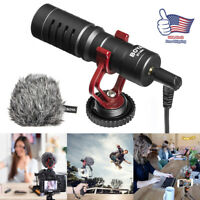 Professional Audio Condenser Microphone Mic Studio Sound fit Camera Smartphone
