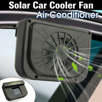 Mini Solar Powered Car Air Vent Cool Exhaust Fan Auto Cooler Ventilation System