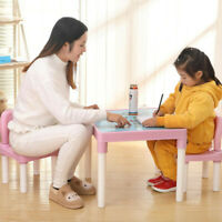 Plastic Kids Table And 2 Chairs Set For Boys Or Girl Toddler Safe Furniture USA
