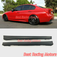 M-Tech Sport Style Side Skirts (PP) Fits 12-18 BMW F30 F31 3-Series 4dr