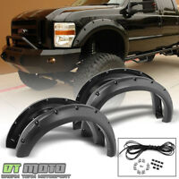 2008-2010 Ford F250 F350 Super Duty Rocket Bolt On Rivet Fender Flares 4 Pcs Set
