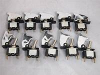 10x CHROME SPST Toggle Switch On/Off High Quality 12V 20A Billet Car truck SUV