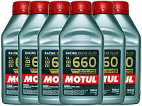(6X 500mL) MOTUL RBF 660 FACTORY LINE 100% SYNTHETIC DOT 4 RACING BRAKE FLUID