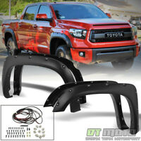 For 2014-2017 Toyota Tundra Bolt On Pocket Textured Fender Flares 4PC Left+Right